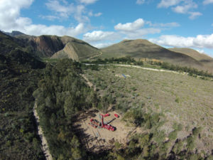 Drill site adjacent to the Cango Fault Ladismith RSA Source Morne Swanepoel