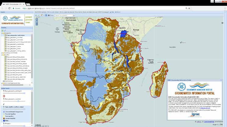 SADC Hydrogeological Map goes LIVE on the SADC Groundwater Information Portal (SADC-GIP)