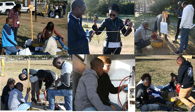 Young professionals during the field work at the University of the Free State Experimental Site