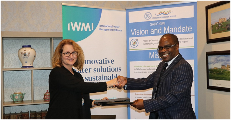 SADC Groundwater Management Institute (SADC-GMI) signs a Memorandum of Understanding (MoU) with the International Water Management Institute (IWMI) 1