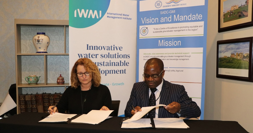 SADC Groundwater Management Institute (SADC-GMI) signs a Memorandum of Understanding (MoU) with the International Water Management Institute (IWMI) 43