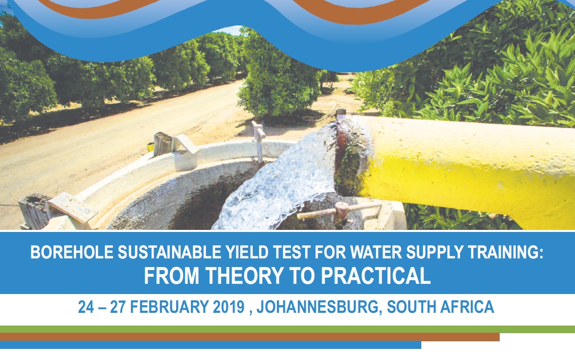 BOREHOLE SUSTAINABLE YIELD TEST FOR WATER SUPPLY TRAINING 2020 1