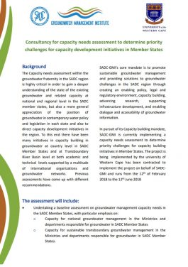 Capacity Needs assessment Cover