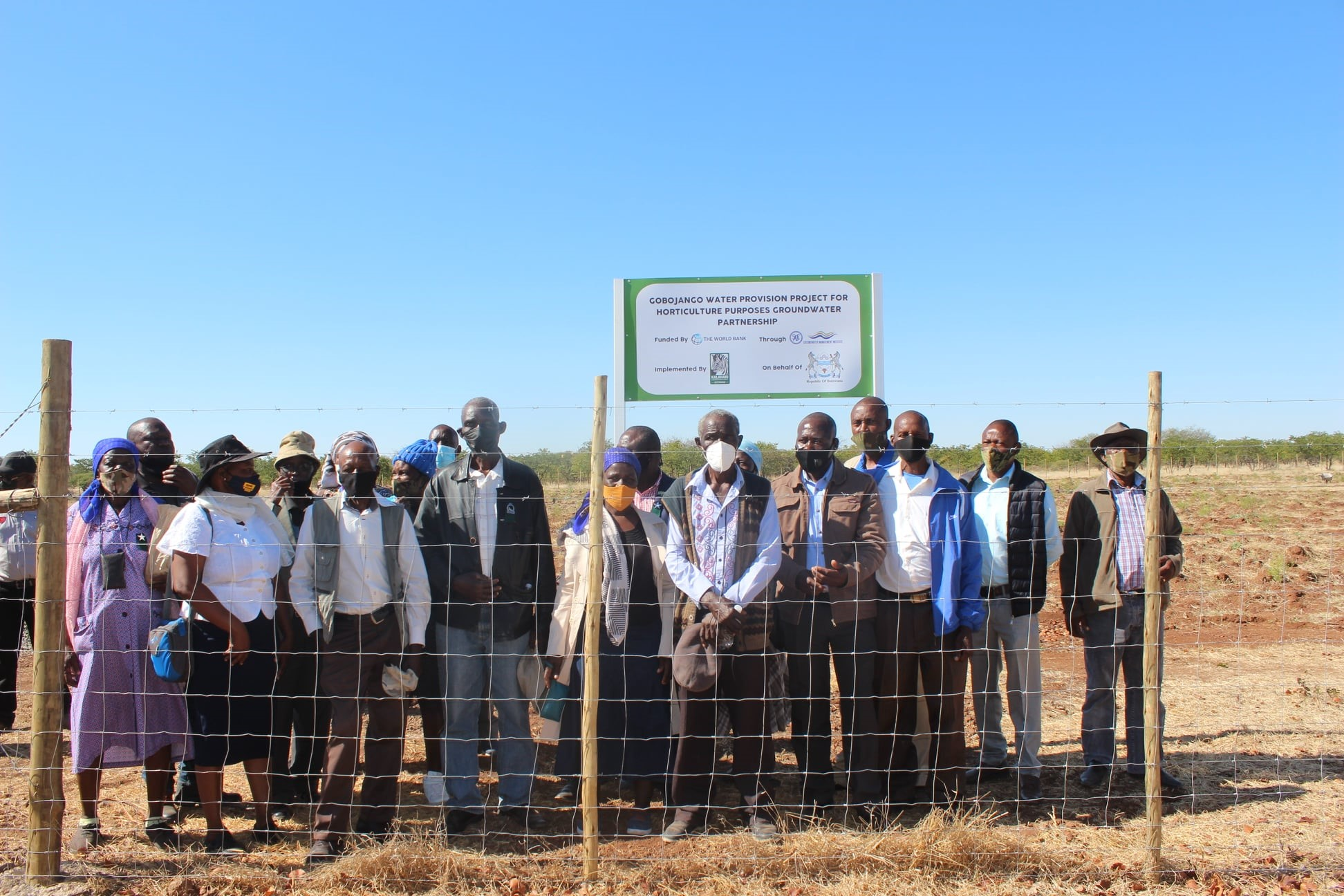 Figure 2: Some of the members of the Gobojango community who graced the project commissioning event.